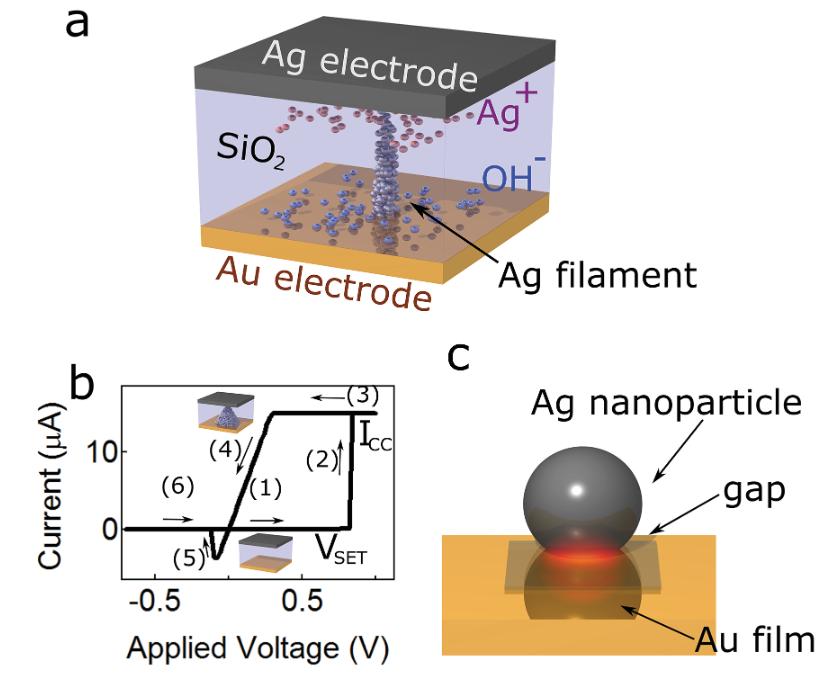 Nanoscale Plasmon‐Enhanced Spectroscopy in Memristive Switches